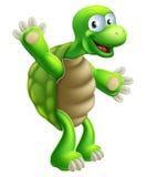 Cartoon Tortoise or Turtle Waving Royalty Free Stock Photo