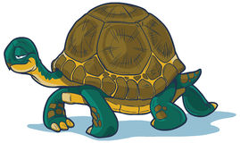 Cartoon Tortoise Walking. Forward with a slow, steady gait. black line is on a separate layer for easy editing. The shadow can easily be removed as well. All stock illustration
