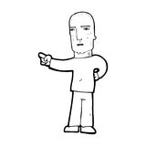 Cartoon tough guy pointing Stock Photo
