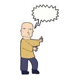 Cartoon tough man  with speech bubble Royalty Free Stock Image