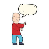 Cartoon tough man  with speech bubble Royalty Free Stock Photography