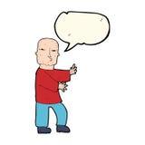 Cartoon tough man  with speech bubble Royalty Free Stock Photography