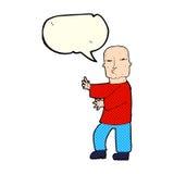 Cartoon tough man  with speech bubble Stock Image