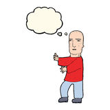 Cartoon tough man  with thought bubble Stock Photography