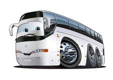 Cartoon Tourist Bus Royalty Free Stock Photography