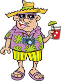 Cartoon tourist Royalty Free Stock Photo