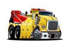 Cartoon tow truck Royalty Free Stock Images