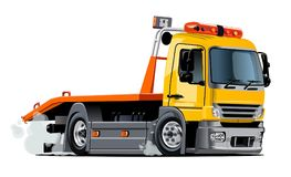 Cartoon tow truck Royalty Free Stock Photography