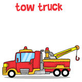 Cartoon tow truck vector art Royalty Free Stock Photography