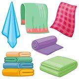 Cartoon towels vector set Royalty Free Stock Photo