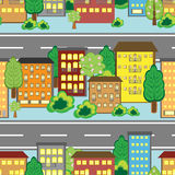Cartoon town Royalty Free Stock Images