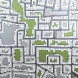 Cartoon town bird eye view urban Stock Photography