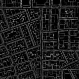 Cartoon town bird eye view urban Stock Image