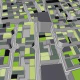 Cartoon town bird eye view urban background Stock Image