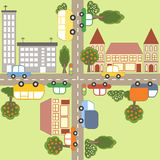 Cartoon town map. Royalty Free Stock Photos