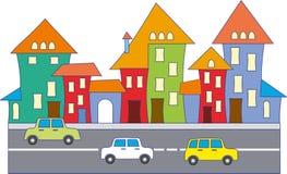 Cartoon town Stock Images