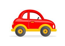 Cartoon Toy Car Vector Illustration. Funny Red Car Vector Clipart for Kids Royalty Free Stock Photos