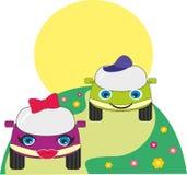 Cartoon toy cars Stock Image