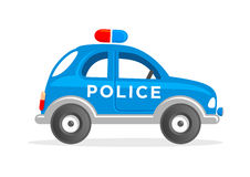 Cartoon Toy Police Car Vector Illustration. Funny Police Car. Clipart for Kids Stock Photo