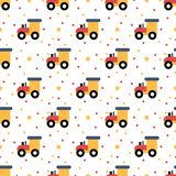 Cartoon toy railway engine seamless pattern. Design Royalty Free Stock Photography