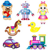 Cartoon Toy Set. Vector Illustration Cartoon set of Toys for Children Royalty Free Stock Image