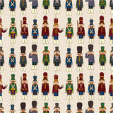 Cartoon Toy soldier seamless pattern. Vector drawing Royalty Free Stock Images