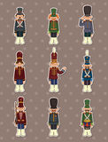 Cartoon Toy soldiers stickers Royalty Free Stock Photo
