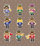 Cartoon Toy soldiers stickers Royalty Free Stock Photography