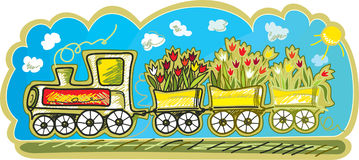 Spring Train Royalty Free Stock Photography