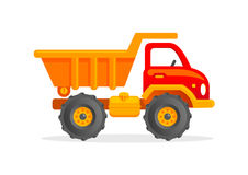 Cartoon Toy Truck Vector Illustration. Funny Toy Truck Car Clipart for Kids Stock Images