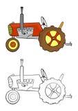 Cartoon tractor Stock Photo