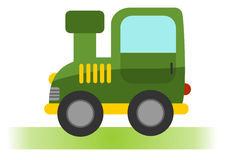 Cartoon tractor on white background Stock Photography