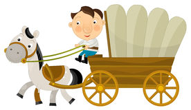 Cartoon traditional carriage - isolated Stock Images