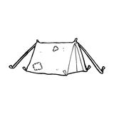 cartoon traditional tent Royalty Free Stock Images