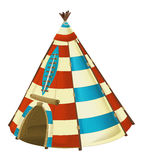 Cartoon traditional tent - tee pee - isolated Royalty Free Stock Images