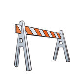 Cartoon Traffic Barrier. Vector Color Cartoon Illustration Of Road Barrier For Traffic and Transportation Concepts, Prints Or Under Construction Web Page Royalty Free Stock Photography