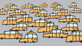 Cartoon traffic jam Stock Photography