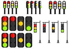 Cartoon traffic lights Stock Image