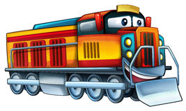 Cartoon train. Beautiful illustration for the children Stock Images