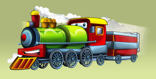 Cartoon train Stock Photo