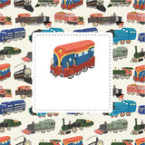 Cartoon train card Royalty Free Stock Photography
