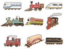 Cartoon Train icon. Vector drawing royalty free illustration