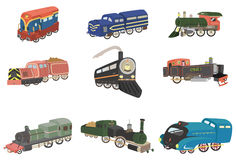 Cartoon train  icon Stock Photos