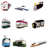 Cartoon train icon Royalty Free Stock Photos