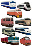 Cartoon train icon. Vector drawing Stock Images