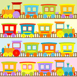 Cartoon trains backgrounds for kids Stock Photos