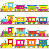 Cartoon trains Royalty Free Stock Images
