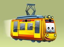 Cartoon tram - caricature Royalty Free Stock Photography