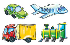 A cartoon of transport Stock Images
