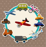 Cartoon Transport card Stock Images